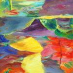 Peinture huile Abstrait Annie Benhaim
