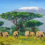 Peinture Kilimandjaro Joséphine Cobham