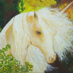 acrylique cheval Michèle Peano